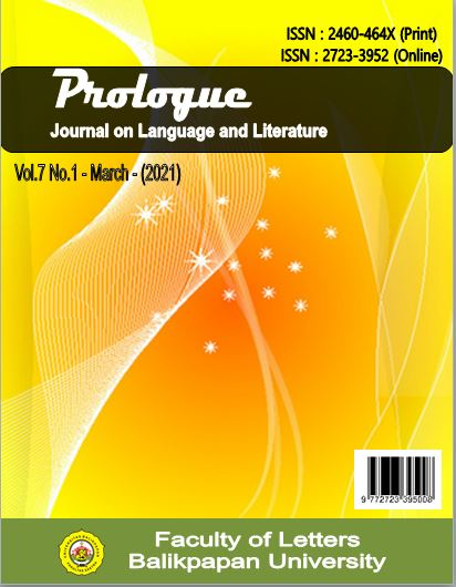 View Vol. 7 No. 1 - March (2021): Prologue : Journal on Language and Literature
