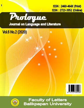 View Vol. 6 No. 2 (September) (2020): Prologue : Journal on Language and Literature