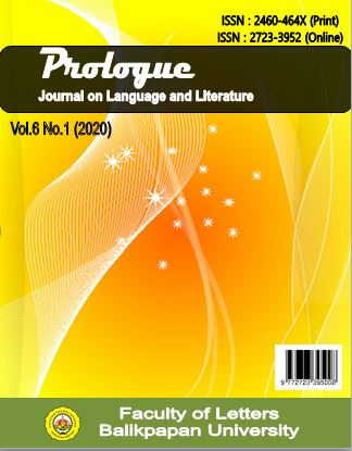 View Vol. 6 No. 1 (2020): Prologue : Journal on Language and Literature